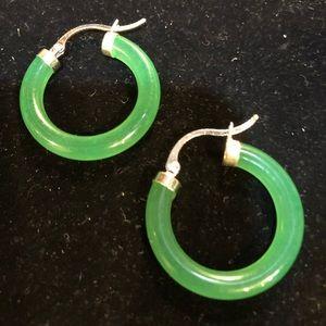 ⭐️ EARRING SALE Lovely Nephrite Green Jade…